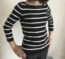 carolin vanity Fine Knit Jumper black-white viscose