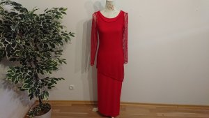 Sommer-Jersey-Kleid / Rot / Netzoberteil