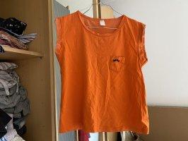 Chemisier body orange fluo