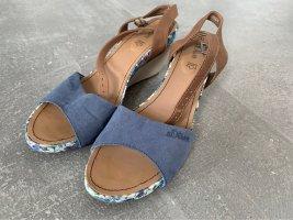 s.Oliver Pumps met sleehak korenblauw