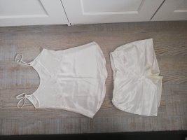 Sommer Pyjamaset aus Satin und Spitze