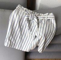 H&M Wraparound Skirt cream-steel blue