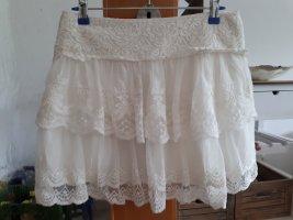 Promod Spódnica z falbanami biały