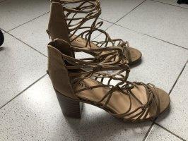 JustFab Roman Sandals camel