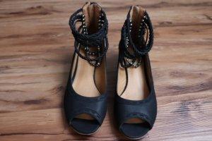 Sommer Schuhe Gr. 37 schwarz mit Riemchen