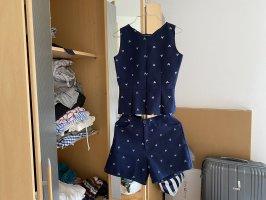 Jersey twin set donkerblauw