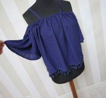 Camicia a tunica blu scuro
