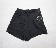 Shorts nero-argento