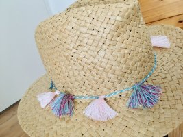 Blue Motion Straw Hat multicolored