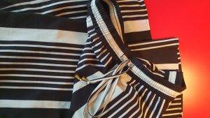 H&M Pantalon palazzo blanc-noir