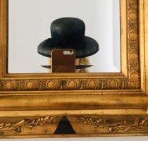 100% Fashion Sombrero de ala ancha negro-gris oscuro