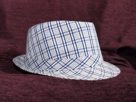 Trilby dark blue-white