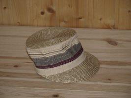 Cappello di paglia beige-beige chiaro Tessuto misto