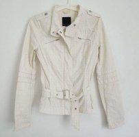 Amisu Kurtka przejściowa biały-w kolorze białej wełny