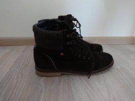 Sommerkind Lace-up Booties dark brown-brown suede
