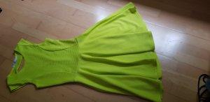 Robe dos-nu jaune citron vert