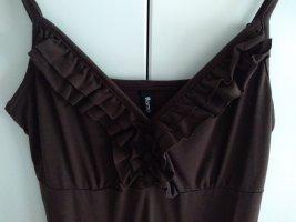 Flame Vestido largo marrón Algodón