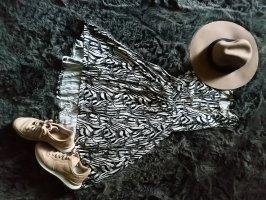 H&M High Low Dress white-black