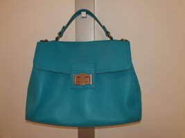 mywalit Sac Baril turquoise cuir