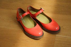 Patent Leather Ballerinas neon orange-neon red leather