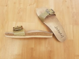 Xyxyx Beach Sandals gold-colored