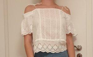Sommerliche weiße Bluse