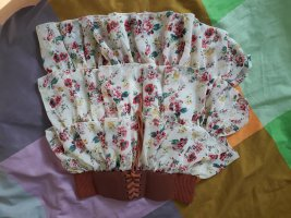 Sommerlicher Blumenmädchen Rock creme 34 xs