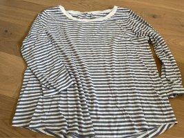 COS Maglietta a righe bianco-blu acciaio