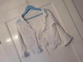 diverse Cardigan à manches courtes blanc-blanc cassé