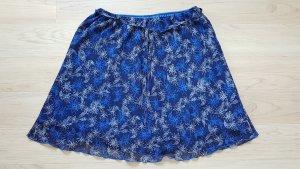 Stretch rok blauw-neon blauw Polyester