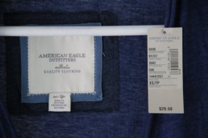 American Eagle Outfitters Hooded Sweatshirt blue cotton