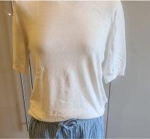 H&M Pull à manches courtes blanc cassé
