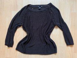 H&M Crochet Sweater black
