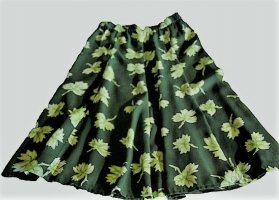 Apart Midi Skirt forest green-pale green polyester