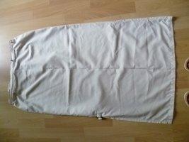 Sommerrock Midilänge leichte Qualität Seitenschlitz beige Gr.42