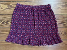 Blue Motion Flared Skirt multicolored