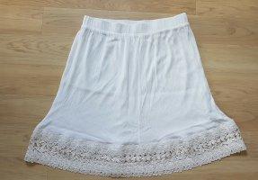 NKD Falda de encaje blanco puro-blanco