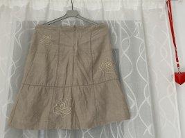 Noa Noa Linen Skirt sand brown linen