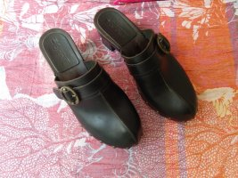 Esprit Clog Sandals black leather