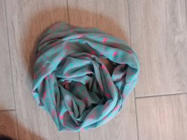 Pieces Summer Scarf pink-turquoise