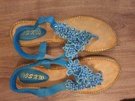 Toe-Post sandals neon blue