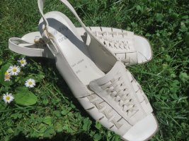 ara Slingback Pumps white leather