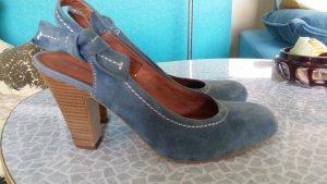 Isabelle F Tacones con cordones gris pizarra-marrón