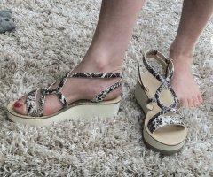 Zara Platform Sandals multicolored