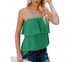 Backless Top forest green