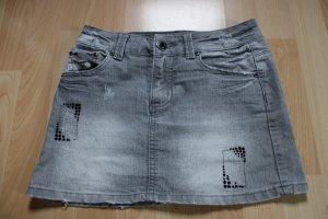 Crash one Miniskirt black-grey