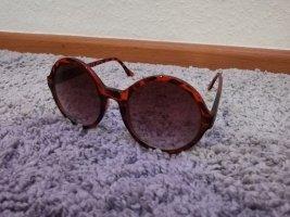 & DENIM Ronde zonnebril lichtbruin-bruin