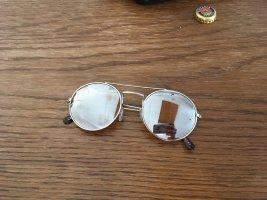 Owalne okulary przeciwsłoneczne srebrny