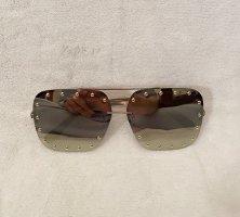 Kwadratowe okulary przeciwsłoneczne złoto