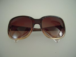 Cole Haan Angular Shaped Sunglasses dark brown synthetic material